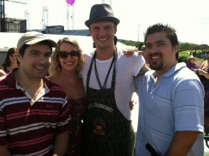 Nick Carter With Craig and Matt Clizbe of Clizbeats.com With Lindsay Clizbe
