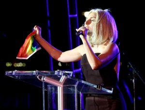 "Lady Gaga Sings ""Star Spangled Banner"" At NYC Pride Parade"