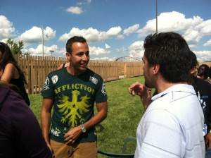 Matt Clizbe And Howie Dorough chat it up