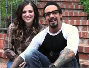 AJ McLean & his wife Rochelle DeAnna Karidis
