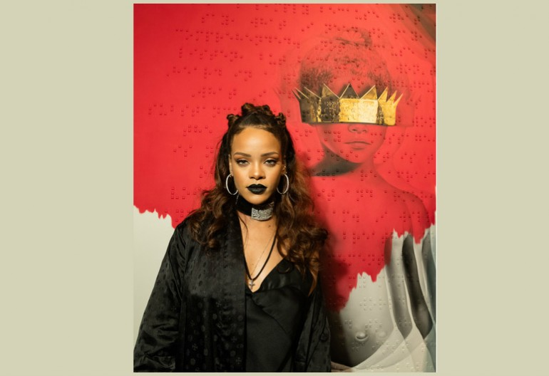 "Rihanna Next To Her ""Anti Album Cover by Roy Nachum"