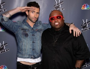 Adam Levine With Cee Lo Green
