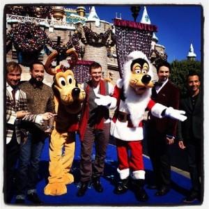"Backstreet Boys Performing It's Christmas Time Again"" At Disney Land"