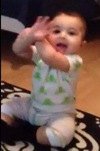 """Baby does Psy's """"Gangnam Style"""" dance"""