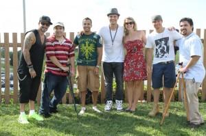 Backstreet Boys With Craig Clizbe And Matt Clizbe of Clizbeats.com With Lindsay Clizbe