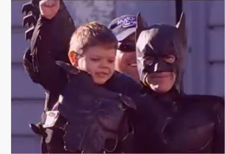 Batkid With Batman