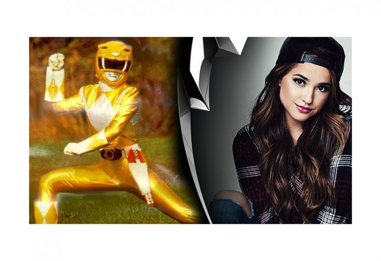Yellow Ranger From Mighty Morphin Power Rangers/Becky G in Lions Gate's Promotional Instagram Picture