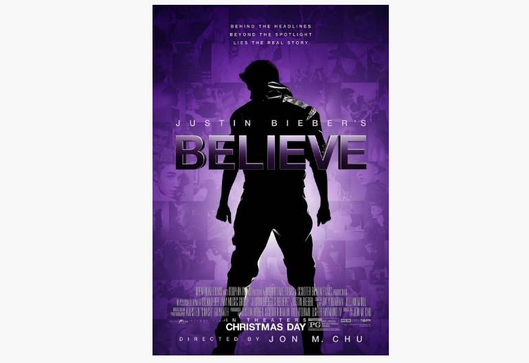 """""""Justin Bieber's Believe"""" Movie Poster"""