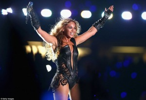 Beyonce At Superbowl 47 Halftime show