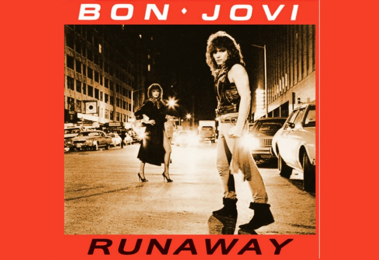 """The cover art for Bon Jovi's first single """"Runaway"""" featured on their debut album Bon Jovi."""