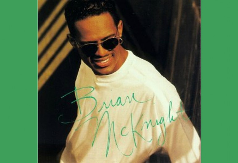 The cover art to Brian McKnight's 1992 Self-titled Debut Album