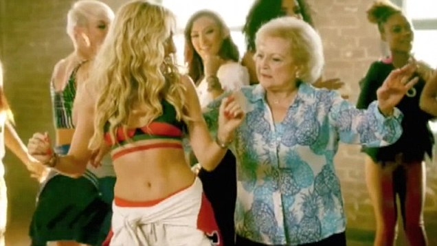"Brit Smith And Betty White in ""Provocative"" Music Video Interscope Records"