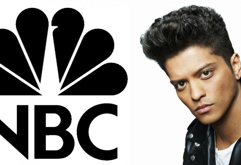 NBC logo/Bruno Mars