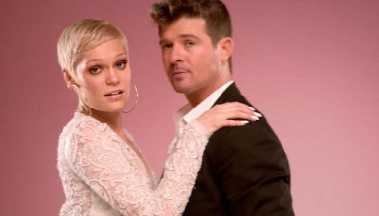 "Jessie J And Robin Thicke In DJ Cassidy's ""Calling All Hearts"" Music Video"