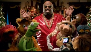 """Video Still From """"All I Need Is Love"""" By Cee Lo Green And The Muppets"""