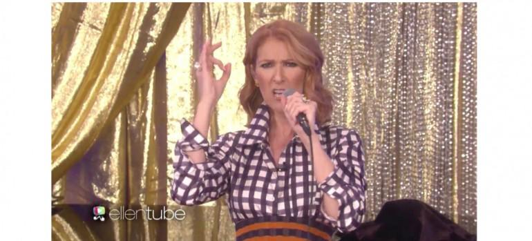 Celine Dion Rapping On Ellen