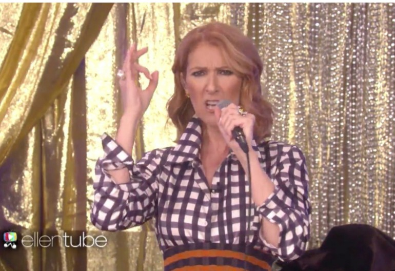Celine Dion Rapping On Ellen