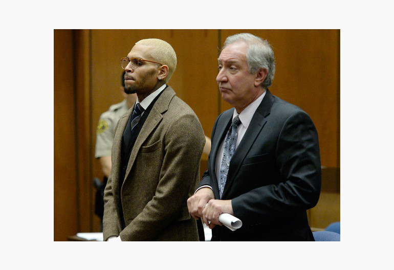 Chris Brown Recent Appearence In Court