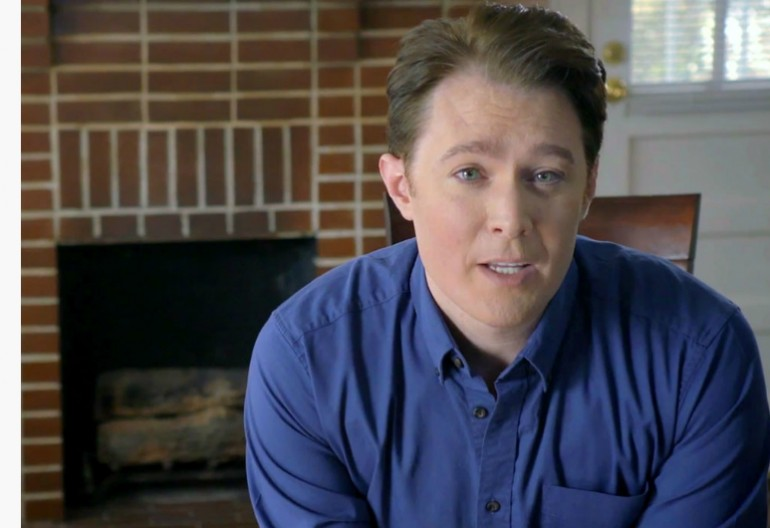 Video Still From Clay Aiken's  Campaign Announcement Video