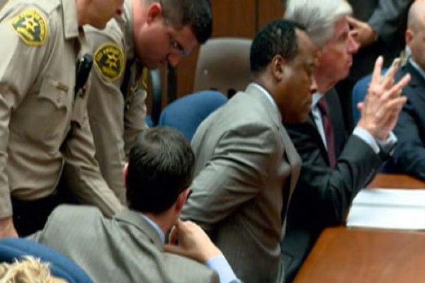 Conrad Murray Court Photo From NBC LA