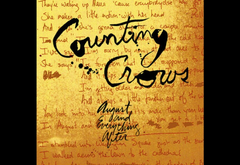 "The album art for the Counting Crows debut album August and Everything After, which featured the hit single ""Mr. Jones""."