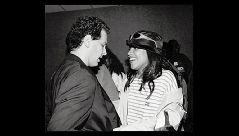 Craig Kallman and Aaliyah