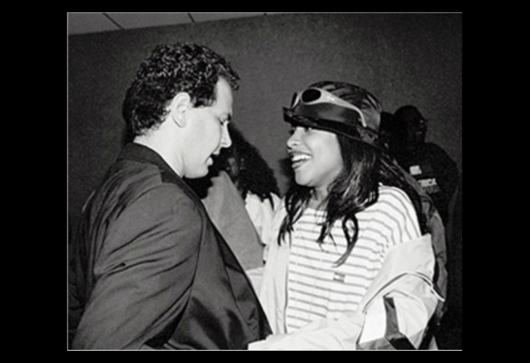 Craig Kallman and Aaliyah