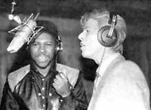 "David Bowie And Nile Rodgers Recording The ""Let's Dance""  Album"