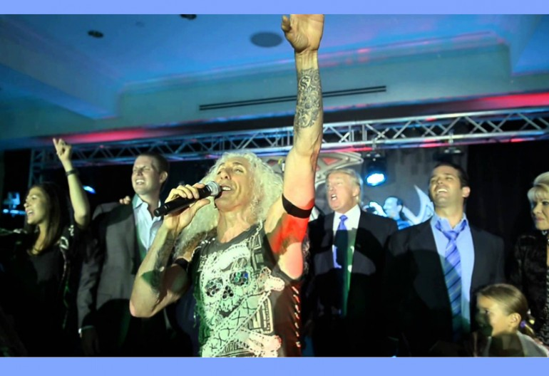 Dee Snider Of Twisted Sister With The Trump Family (Image Provided Via YouTube)