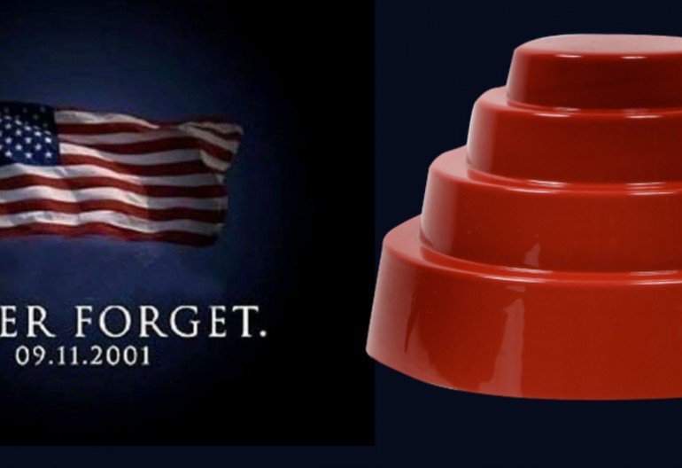 9/11 Tribute Image Blended With Devo Hat