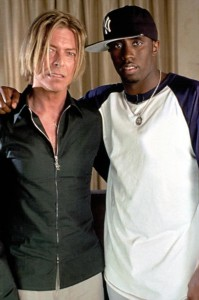 "David Bowie And Sean ""Diddy"" Combs At Daddy's House Studios In New York City Working On The ""Training Day"" Soundtrack In 2001"