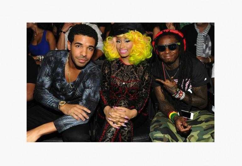 Drake ,Nicki Mina,j,, Lil Wayne