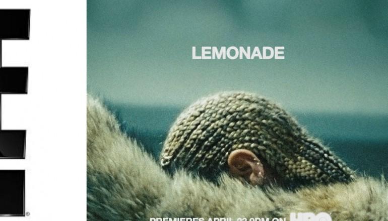 """E! logo/Beyonce's """"Lemonade"""" promo art"""