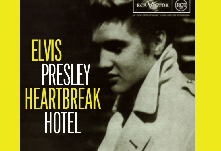 """Heartbreak Hotel"" by Elvis Presley  topped both the Billboard Top 100 chart and the Billboard Country & Western chart after its 1956 release."