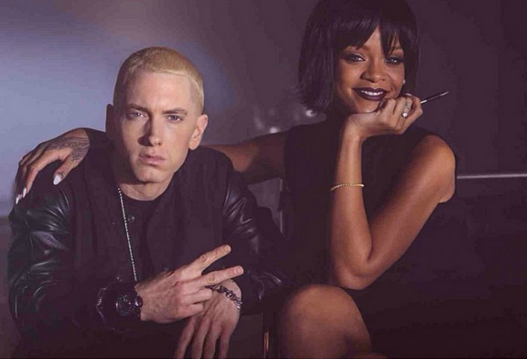 Eminem With Rihanna On Set of The Monster Music Video