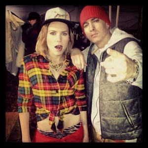 "Skylar Grey Featuring Eminem ""C'mon Let Me Ride"" Video Shoot"