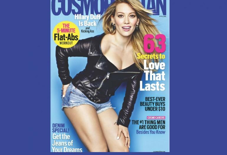 Hillary Duff On Cosmopolitan Magazine