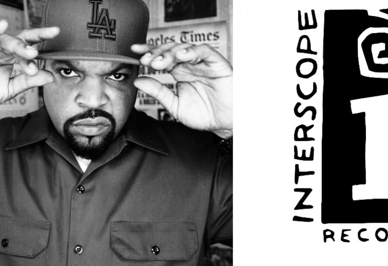 Ice Cube/Image Via Facebook/Interscope Records logo