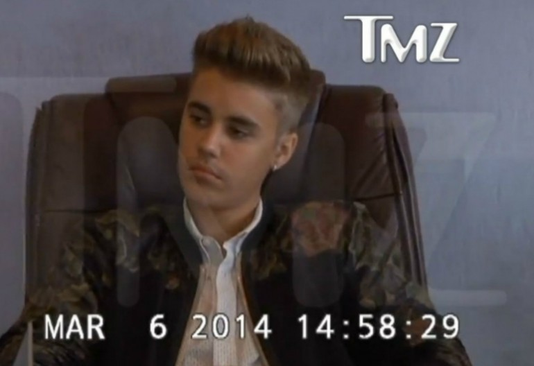 Video Still From Justin Bieber's Deposition via TMZ