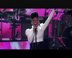 Janelle Monae Performing at the 2010 In Los Angeles