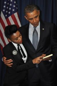 Janelle Monae and President Obama