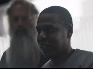 Jay-Z With Rick Rubin In Background