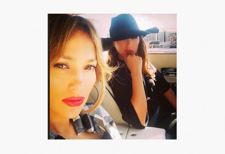 Jennifer Lopez & Leah Remini Shortly before accident via Instagram