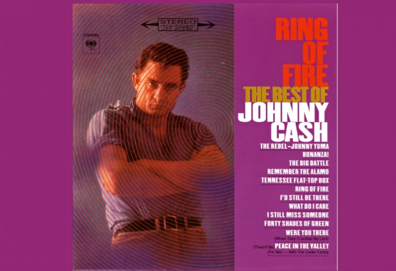 "Johnny Cash ""The Ring Of Fire"" The Best Of Johnny Cash"" Columbia Records"