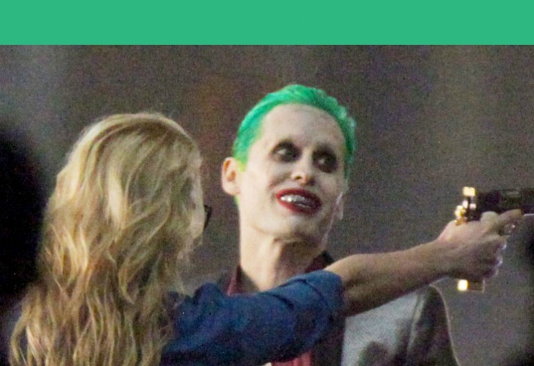 "Margot Robbie As Harley Quinn And Jared Leto As The Joker On The Set Of ""Suicide Squad"""