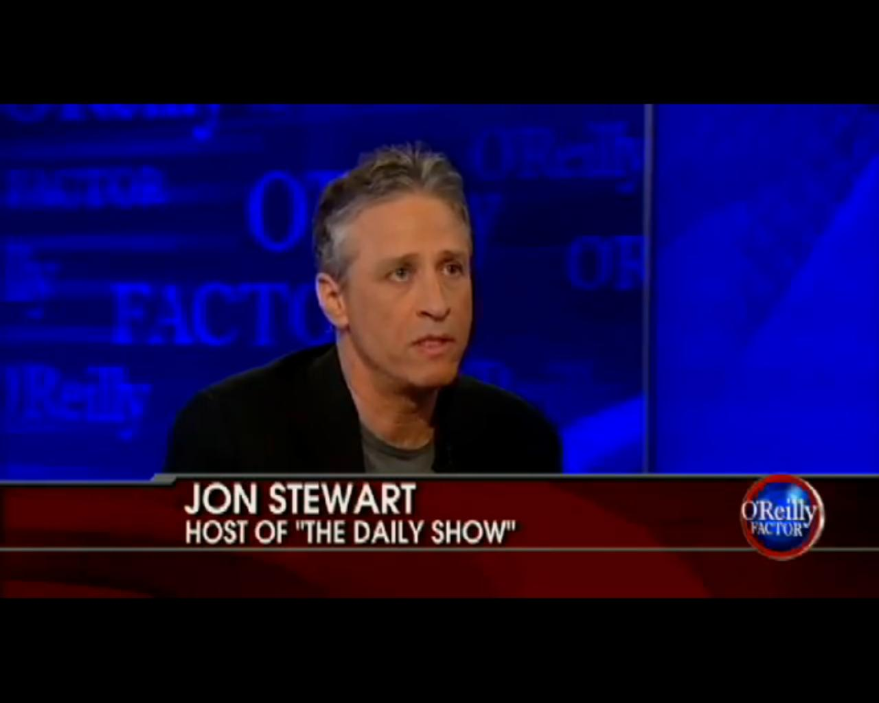 "Jon Stewart On Fox News' ""The O'Reiley Factor"" With Bill O'Reilley"