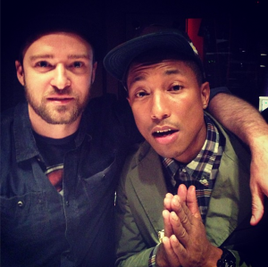 Justin Timberlake And Pharrell Williams (Photo Published In June 2013)