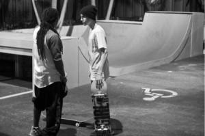 Justin Bieber Skateboarding With Lil Wayne
