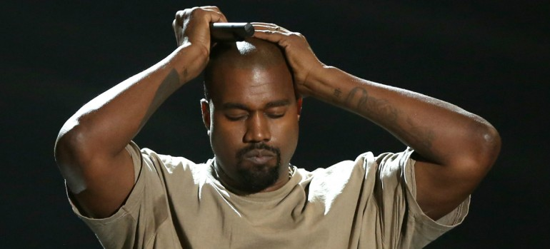 Kanye West Durring His Video Vanguard Award acceptance speech at the 2015 Video Music Awards