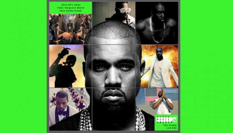 Kanye West Video  Vanguard Award Promotional Image via MTV